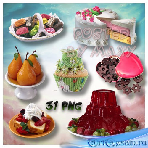 Картинки PNG - Различные десерты