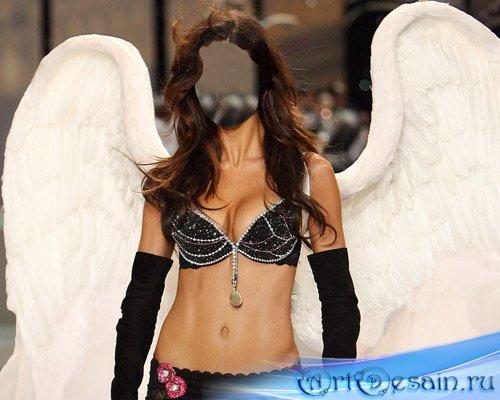 Женский шаблон - Чудесный ангел на подиуме