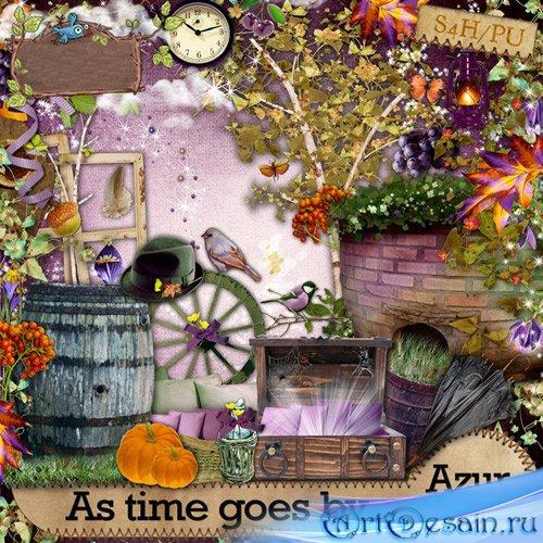 Симпатичный осенний скрап-набор - Когда проходит время