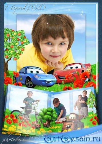 Детская летняя фотокнига с героями мультфильма Тачки - Лето в Радиатор Спри ...