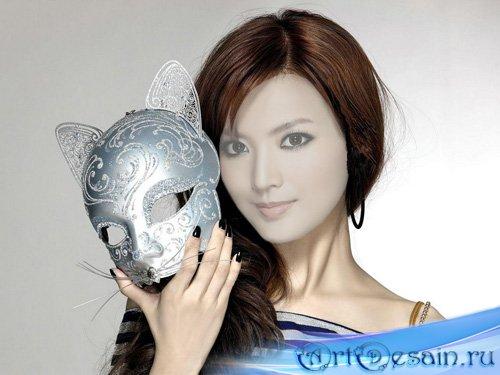 Шаблон для фотомонтажа - Кошачья маска