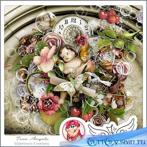 Винтажный скрап-набор - Верные ангелы