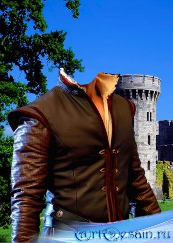 Шаблон для фотошопа  - Принц возле замка