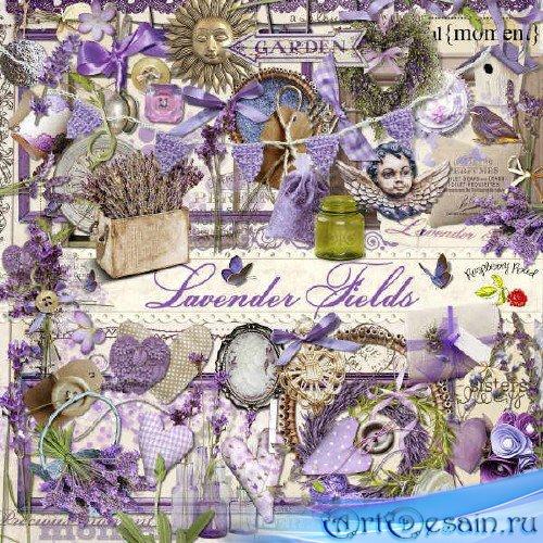 Цветочный скрап-комплект - Лавандовое поле