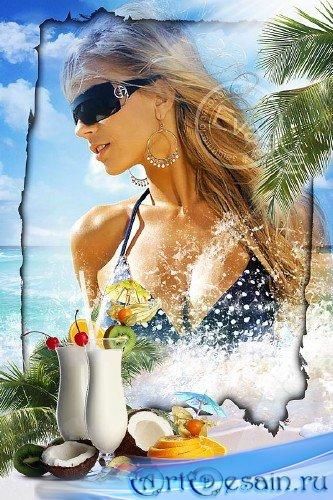 Рамка для фото - Море, солнце и отдых