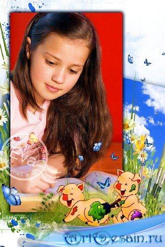 Детская рамочка для фото - Веселые поросята