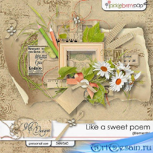 Набор для скрапбукинга - Like a sweet poem