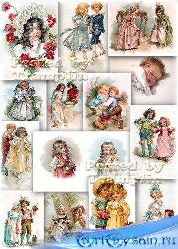 Винтажные открытки - Детки