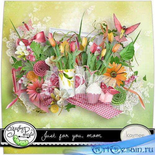 Цветочный набор для скрапбукинга - Только для тебя, мамочка