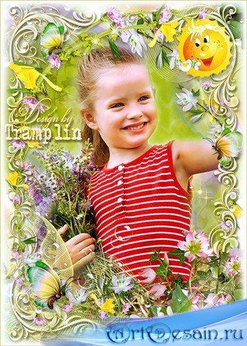 Летняя рамка для фото – Полевые цветы