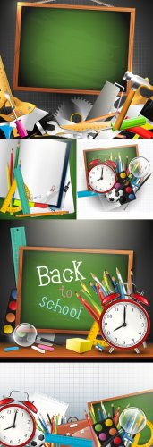 School accessories/ Школьные принадлежности - Vector