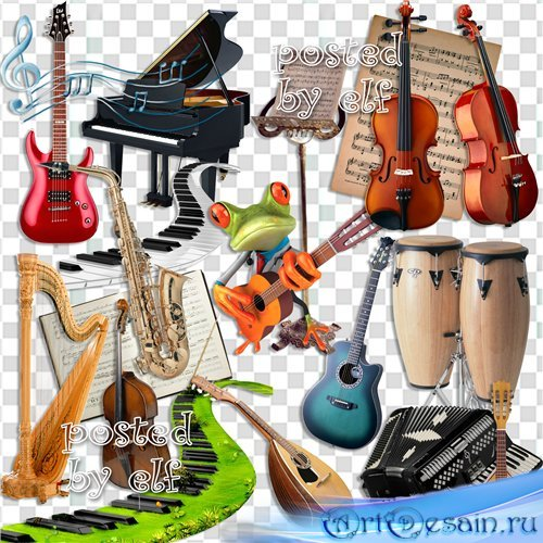 Музыкальный клипарт в PNG
