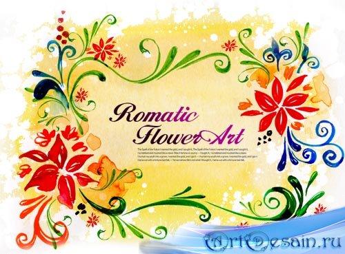 Романтический PSD Исходник - Цветочное Искусство
