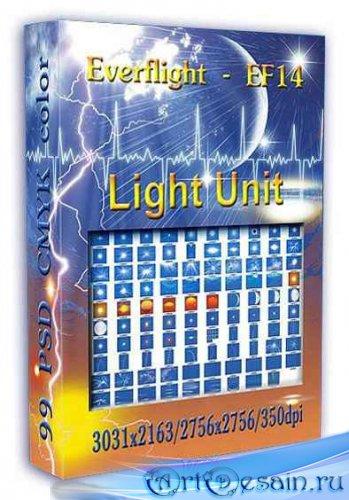 PSD исходники для фотошопа Light Unit
