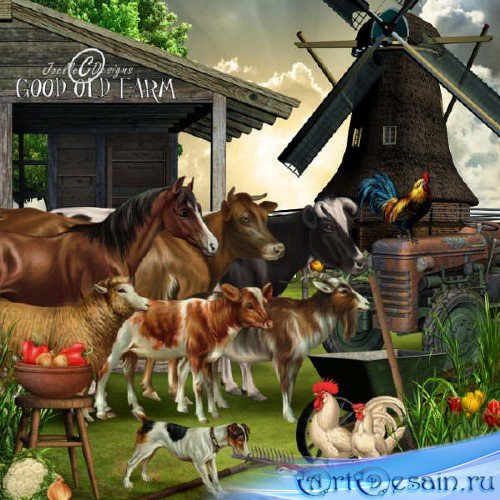 Набор для скрапбукинга - Good Old Farm