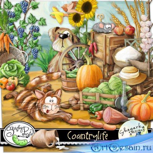 Очаровательный детский набор для скрапбукинга - Жизнь в деревне