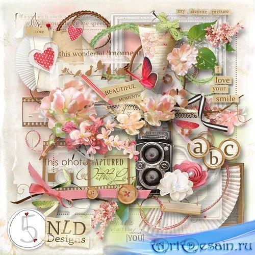 Цветочный набор для скрапбукинга - Прекрасные моменты