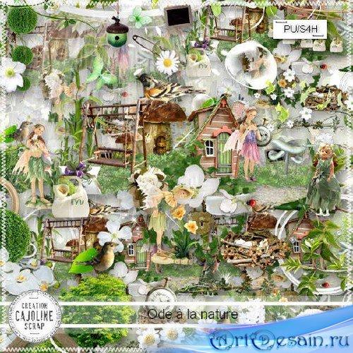 Скрап-комплект на тему природы - Ode a la nature