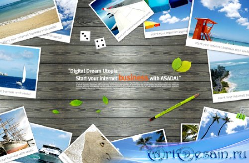 Bookmark Desktop - landscape photos on the board