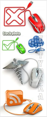 Компьютерные мышки / Computer mice - Raster clipart