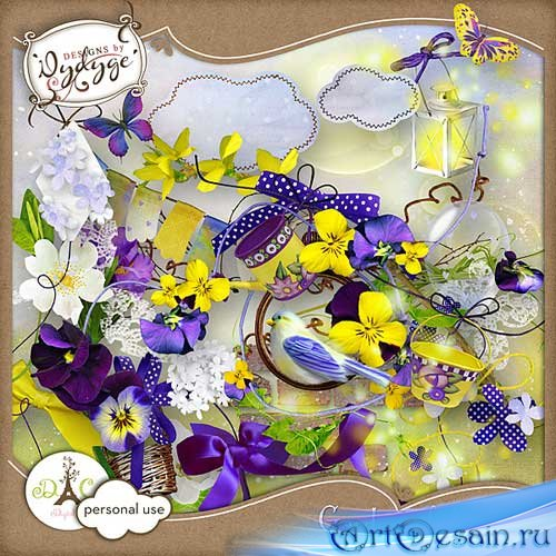 Цветочный скрап-комплект - Светлый сад