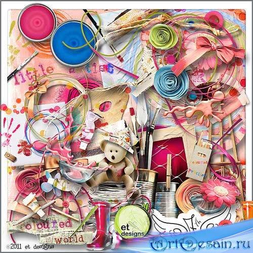 Детский скрап-комплект - Красочный мир