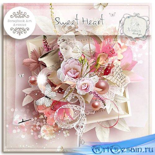 Романтический скрап-комплект - Милое сердечко