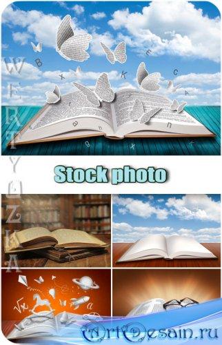 Креативные книжки / Creative books - Raster clipart