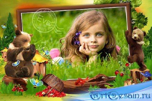 Детская фоторамочка - Мишки сладкоежки