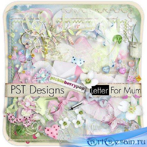 Цифровой скрап-набор - Letter for Mom