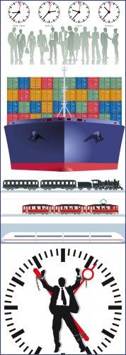 Transport & time/ транспорт и время - Vector photo