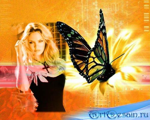 Рамка для фото - Цифровая бабочка