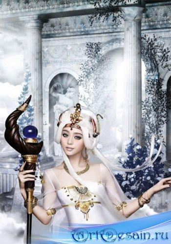 Шаблон  женский - В замке небесном принцесса живёт