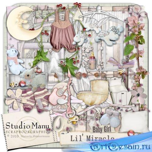 Очаровательный детский скрап-комплект для девочек - Малышка