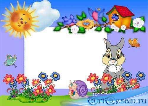 Детская фоторамка – Улитка и заяц.