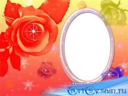 Рамка для фотошопа -Цветочная