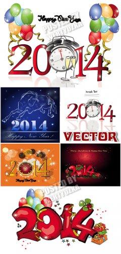 2014, год лошади / 2014, year of the horse - Stock vector