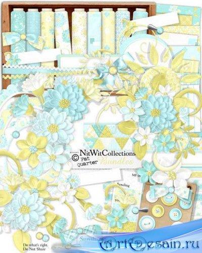 Цветочный скрап-комплект - Солнце и смех