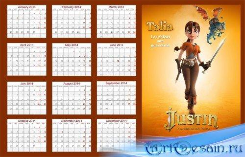 Календарь на 2014 год - Талия, рыцари доблести