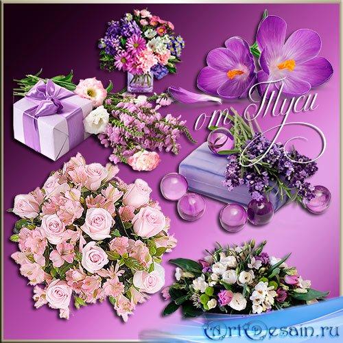 Клипарт - Цветом неба он цветет