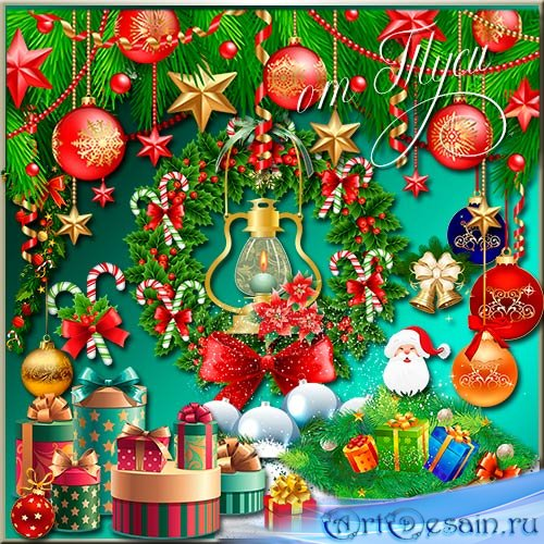 Клипарт - Новогодний микс