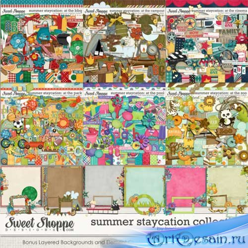 Летний скрап-комплект - Summer Staycation Collection