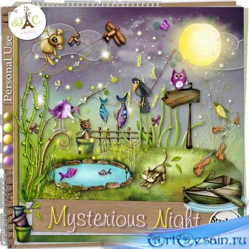 Детский скрап-комплект - Загадочная ночь