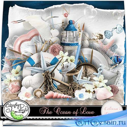 Очаровательный морской скрап-комплект - Океан любви