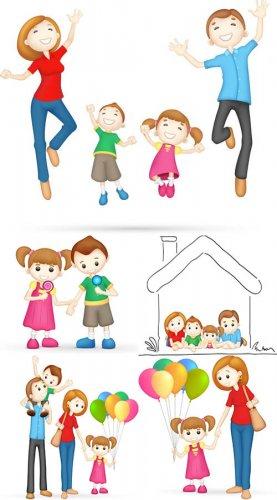 Векторные рисунки - Семья