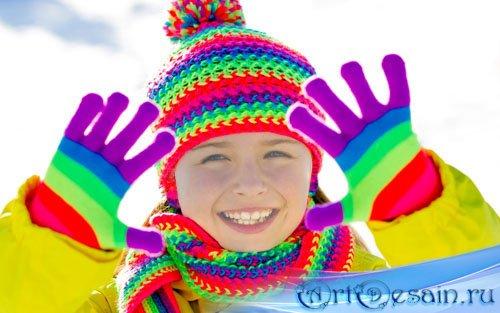 Шаблон для детей - Радуга для позитива