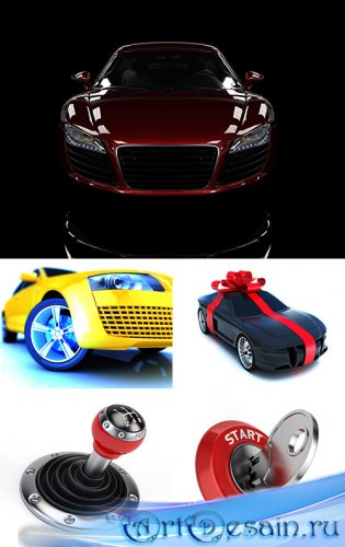 Растровый клипарт - 3D автомобили
