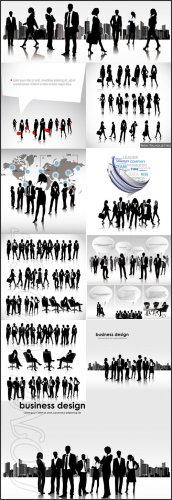 Бизнесс люди работают вместе/ Business people working together. - Vektor ph ...