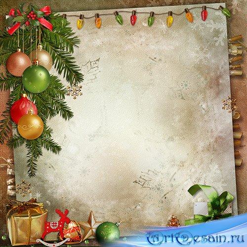 Фон для новогоднего поздравления 9
