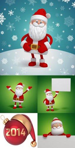 Растровый клипарт - 3D Дед Мороз/Санта Клаус